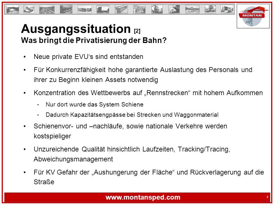 Ausgangssituation [2] Was bringt die Privatisierung der Bahn